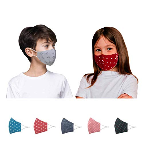 Kawach Face Mask for Kids (Product of IIT Delhi Startup) | Reusable and Washable | 99% Filtration | Anti Pollution | Cotton Protective Mask | Fashionable and Reversible (Assorted)