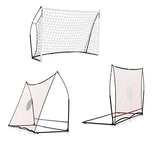 (QuickPlay Spot Elite 3in1 Portable Soccer Goal, Soccer Rebounder and Free Kick Wall | Play on Any Surface with Integrated Weighted Base)