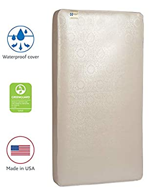 "Sealy Baby Posturepedic Crown Jewel Waterproof Standard Toddler & Baby Crib Mattress - 220 PostureTech Sensory Coils, 51.7"" x 27.3"""