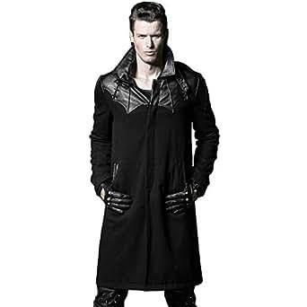 Steelsir Punk Black Winter Trench Coat Men Handsome Dust