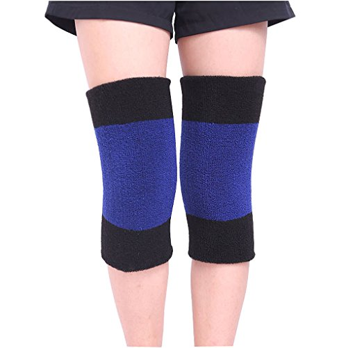 Adutls Teens Thicken Thermal Knee Braces Leg Warmers Winter Stretchy Soft Warm Knee Pads Leg Sleeves Support Protector for Ski Riding Hiking Camping Arthritis