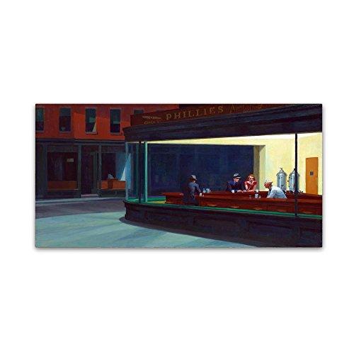 Nighthawks by Edward Hopper, 16x32-Inch Canvas Wall ()