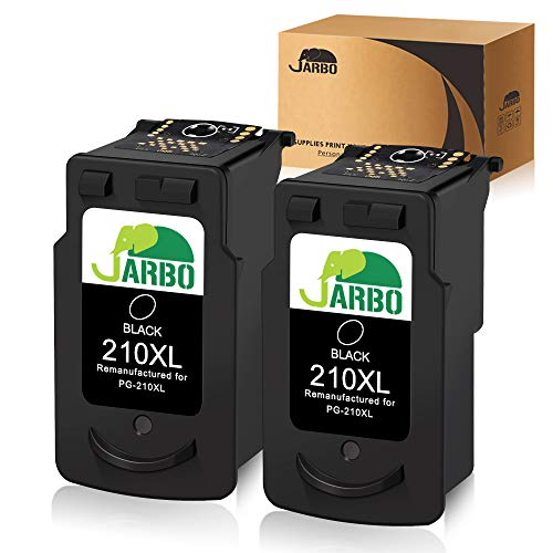 JARBO Remanufactured for Canon PG-210XL 210 XL Ink Cartridges, 2 Black, Used in Canon PIXMA MP495 IP2702 MP230 MP240 MP250 MP280 MP480 MP490 MP499 MX330 MX340 MX350 MX410 MX420 Printer (Mp495 Ink Canon)