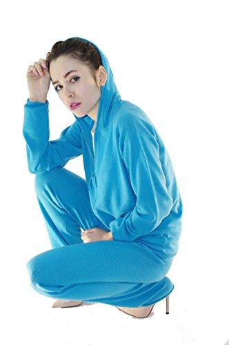 ZYPR 100% Mongolei cachemira mujer 02-980-rebeca Azul