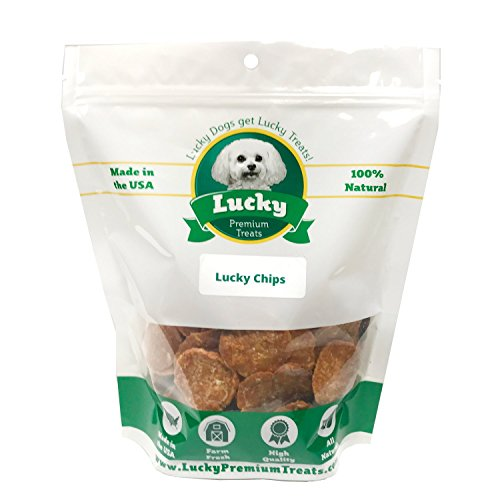 Lucky Premium Treats Chicken Lucky Chips Dog Treats - 98% Fat-Free Restaurant Quality Chicken Breast Treats for Dogs