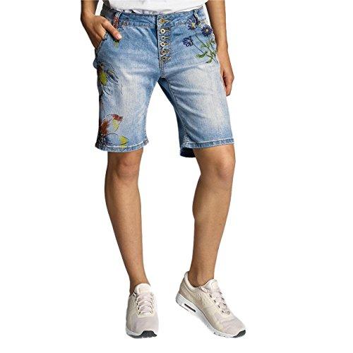 Rock Angel Mujeres Pantalones / Pantalón cortos Alva Flowers Azul