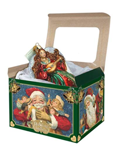 (Old World Christmas 5 Extra Large Cardboard Ornament Gift Boxes with Windows)