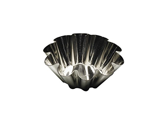 Tinned Steel Fluted Tartlet Mold - Gobel Fluted Brioche Heavy Tinned Steel Mold 3-1/8 Inch Diameter (1 Each)