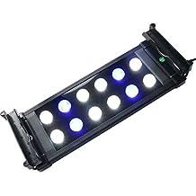 LED Reef Aquarium Lights for Saltwater Coral Fish Tank Aquantic Plants Led Light,Color Lighting Blue & White