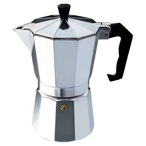 Uheng Moka Stove Top Stovetop Pot Coffee Espresso Maker 1-Cup Silver