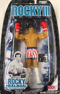 Rocky III (3) Rocky Balboa Vs Clubber Lang Rematch Action Figure in Stars and Stripes Red White and Blue USA Shorts