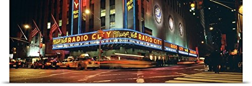 GREATBIGCANVAS Entitled New York City, Radio City Music Hall Poster Print, 60