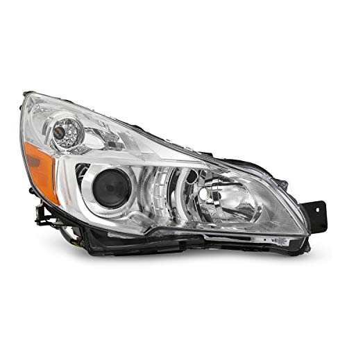Fits 2013 2014 Subaru Legacy | Outback Projector Chrome Headlights HeadLamp Passenger Right Only