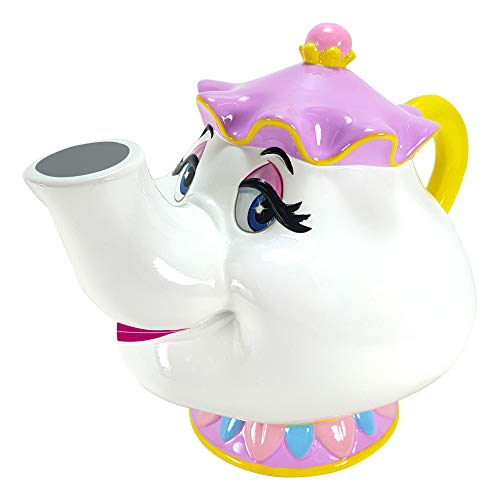 Disney Beauty and The Beast's Mrs. Potts Ceramic Piggy Bank - Collectible and Gift for Boys, Girls, Adults, Baby, Beauty and The Beast Fan! (Bank Character Disney)