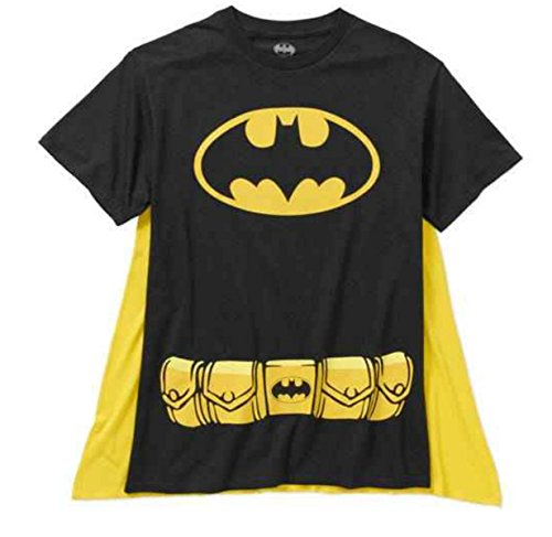 DC Comics Men's Batman Costume T-Shirt with Cape