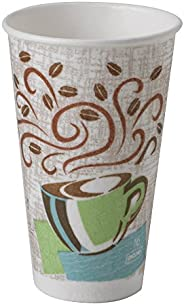 Dixie PerfecTouch 16 oz. Insulated Paper Hot Coffee Cup by GP PRO (Georgia-Pacific), Coffee Haze, 5356DX, 500