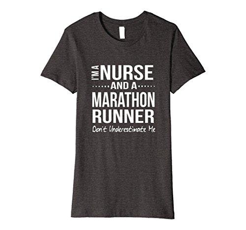 Womens Funny Marathon Running Gift Nurse RN LPN CNA Runner Half Medium Dark Heather