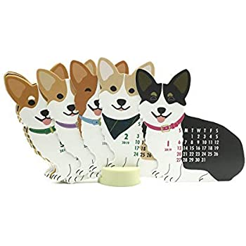 Welsh Corgi Dog 2019 Die-Cut Desktop Calendar
