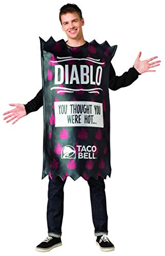 Taco Bell Hot Sauce Packet Costumes - Taco Bell Sauce Packet Black Diablo