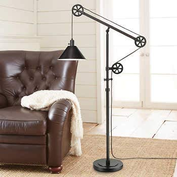Pulley Floor Lamp includes light bulb