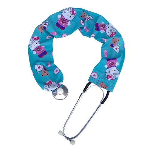 - Stethoscope Covers Handmade Variety Patterns Colors 100% Cotton Scrunchie (Hello Kitty Nurse)