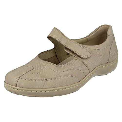 para casual Mary Waldlaufer de Zapatos crema planos estilo 496302 Jane mujer Iw5xUpnq