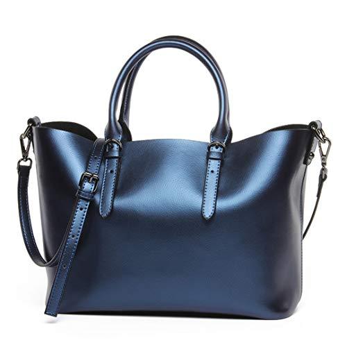 sac Sac bandoulière Blue main bandoulière à à en véritable femmes cuir cuir pour vachette de Sentsreny en Sac à véritable UqadRU