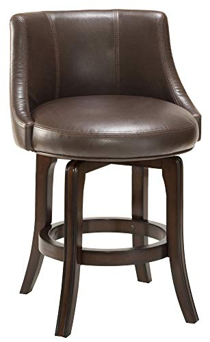 Hillsdale Furniture Napa Valley Swivel Counter Stool – Brown Upholstery 30 in.