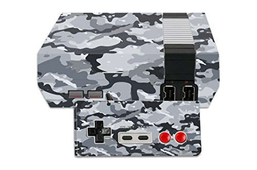 (MightySkins Protective Vinyl Skin Decal for Nintendo NES Classic Edition wrap Cover Sticker Skins Gray Camouflage)