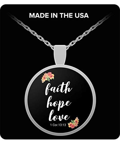 Be Exalted Design |1 Corinthians 13 13 Necklace| Christian Bible Verse Love Necklace