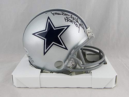 Randy White Autographed Dallas Cowboys Mini Helmet Hof-Beckett Auth Black - Certified Authentic