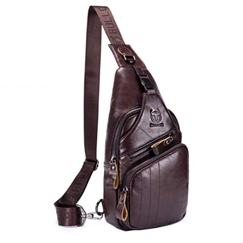 In Pacchetto Chest A Monospalla Pacco Xieben Pelle Borsetta Crossbody Uomo Sport Messaggero Tracolla Retro Petto Ciclismo Spalla Borsello Per Vera Borsa coffee Zaino Coffee TzqqwpUH0