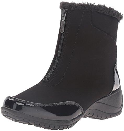 Khombu Women's Alicia Snow Boot, Black Patent, 10 M US