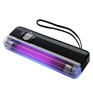 Handheld UV Black Light Torch Portable Blacklight with LED - Black ...