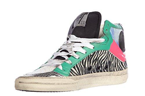 Golden Goose chaussures baskets sneakers hautes femme en cuir verde