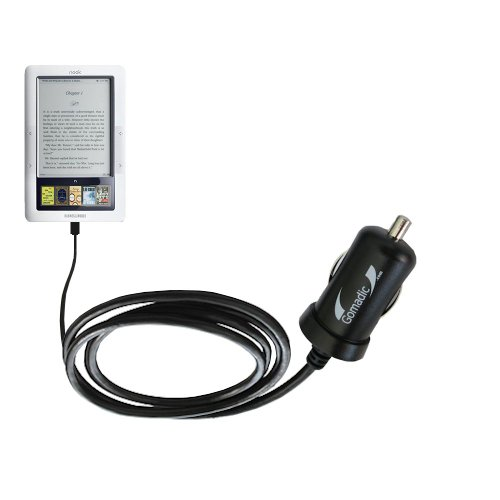 Gomadic Intelligent Compact Car / Auto DC Charger suitable for the Barnes and Noble Nook 3G Wi-Fi - 2A / 10W power at half the size. Uses Gomadic TipExchange Technology ()