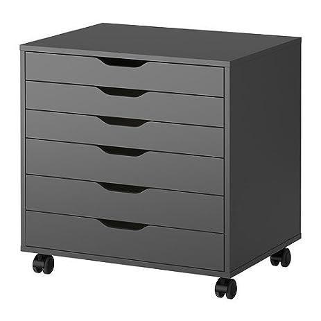 Amazon.com: Alex,drawer Unit on Casters, Black (Gray): Home & Kitchen