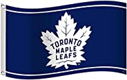 NHL Toronto Maple Leafs Banner Flag 3-Foot by 5-Foot, Coated Nylon Blue New