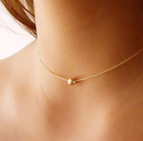 Handmade Gold Ball Choker Necklace