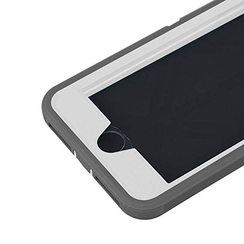 smartelf Case for iPhone 7 Plus/8 Plus Heavy Duty With Built-in Screen Protector Shockproof Dust Drop Proof Protective Cover Hard Shell for Apple iPhone 7+/8+ 5.5 inch-Grey/White