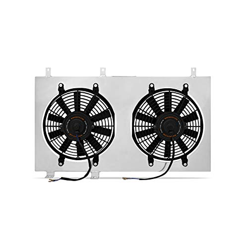 Mishimoto MMFS-EVO-01 Mitsubishi Lancer Evolution 7/8/9 Performance Aluminum Fan Shroud Kit, 2001-2007, Silver