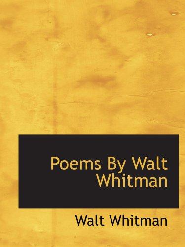 Download Poems By Walt Whitman pdf