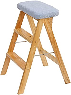 Groovy Amazon Com Lxf Step Stool Solid Wood Step Stool Chair Bench Caraccident5 Cool Chair Designs And Ideas Caraccident5Info