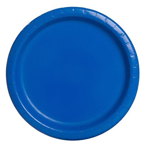 Royal Blue Paper Plates, 16ct (Ocean Theme Flatware)