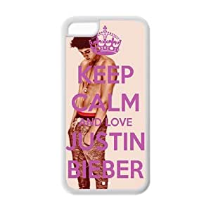 Keep Calm And Love Justin Bieber Printed phone iphone 4/4s iphone 4/4s Case-Hard Plastic Cover