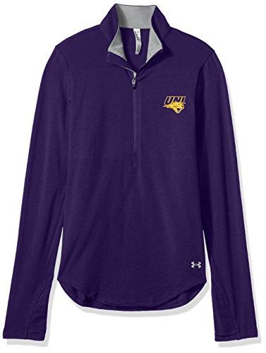 NCAA Northern Iowa Panthers Women's Cotton Lightweight 1/4 Zip Tee, Medium, Purple (Armour Panthers Under)