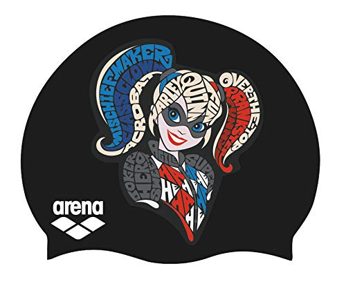 (arena Super Hero Youth Swim Cap,Harley Quinn)