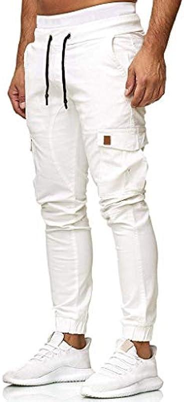 Hniunew Baggy Trousers męskie spodnie cargo spodnie sportowe ze ściągaczem, spodnie haremalne, spodnie do joggingu, spodnie trekkingowe, szerokie spodnie relaksacyjne, spodnie treningowe z materiału: Odzie