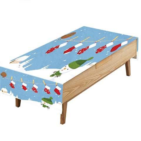 PINAFORE プリント生地テーブルクロス 家族がブランチに座っているか マジカルエルフ ノール デザイン ピクニック。ギャザリング 幅50 x 長さ80インチ。 W60