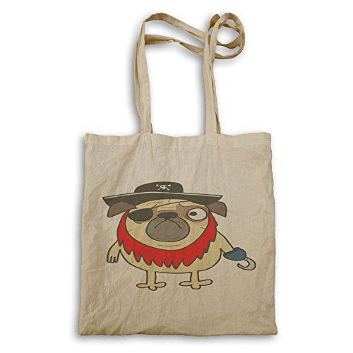 r682r Tote Funny Fun bag Funny Tote Pirate Pug Pirate Pug Fun bag IqwPzfC